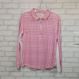 San Soleil pink/white pull over upf 50 size M
